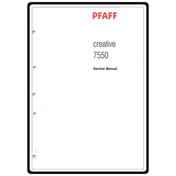 Service Manual, Pfaff 7550