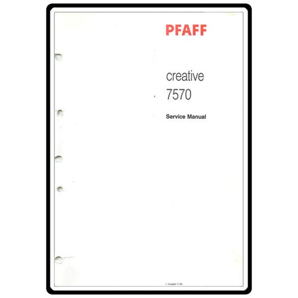 Service Manual, Pfaff 7570