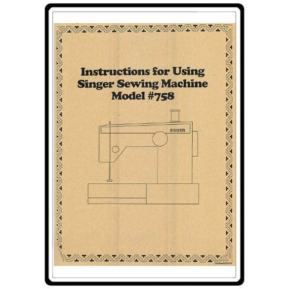 Instruction Manual, Singer 778