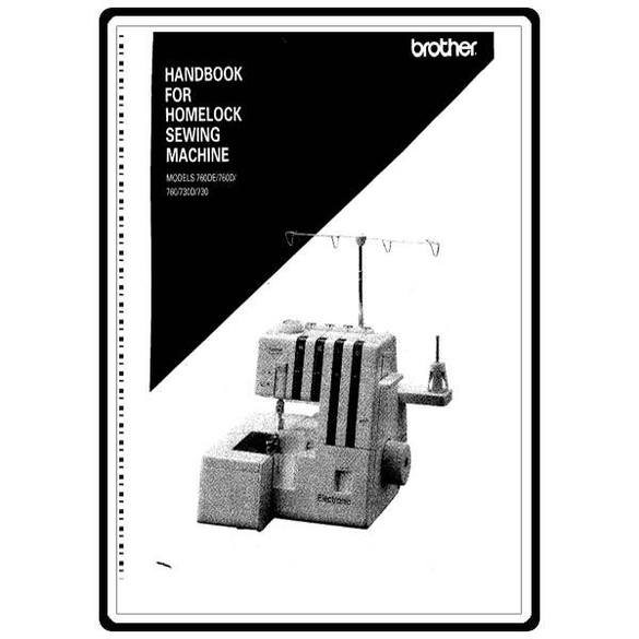 Instruction Manual, Brother Homelock 760DE