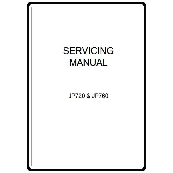 Service Manual, Janome JP760 Jem Platinum