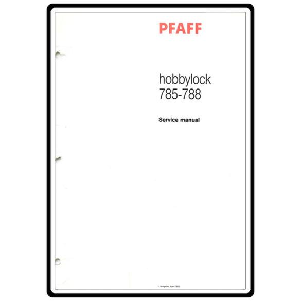 Service Manual, Pfaff 788