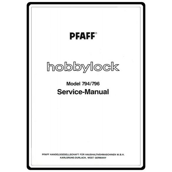 Service Manual, Pfaff 794