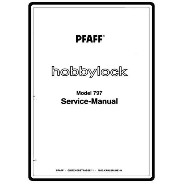 Service Manual, Pfaff 797