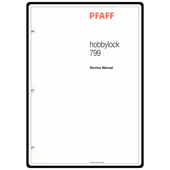 Service Manual, Pfaff 799