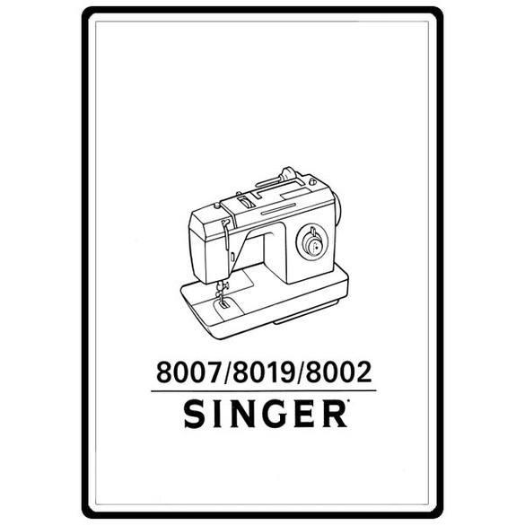 Instruction Manual, Singer 8002