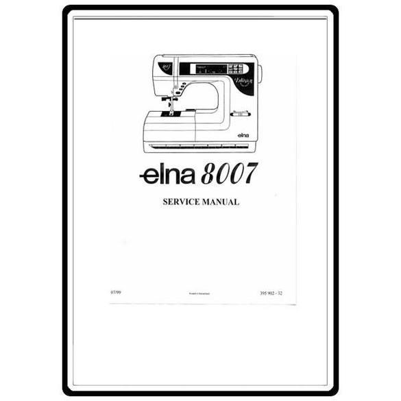 Service Manual, Elna 8007