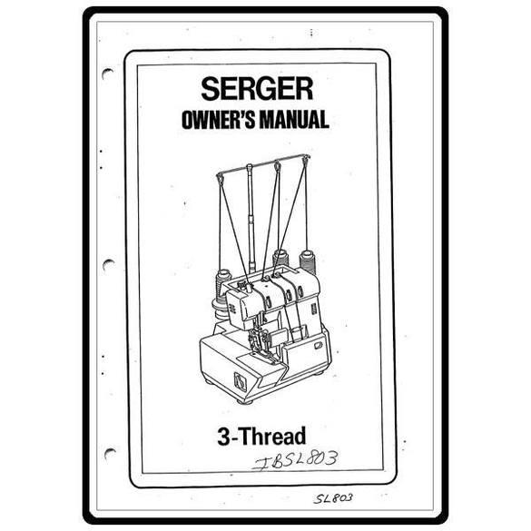 Service Manual, Pfaff 803