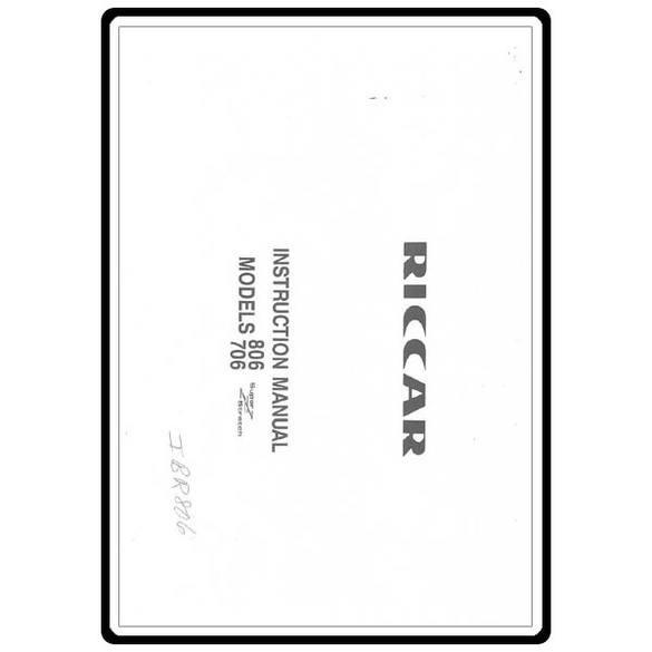 Service Manual, Pfaff 806