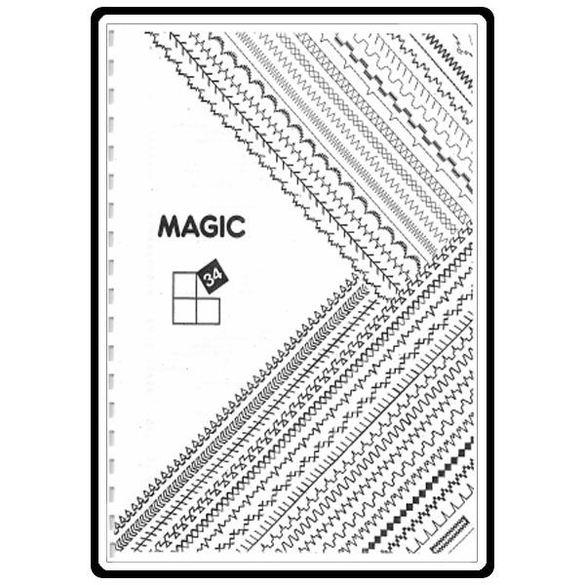 Instruction Manual, Singer 8734