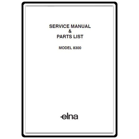Service Manual, Elna 8300