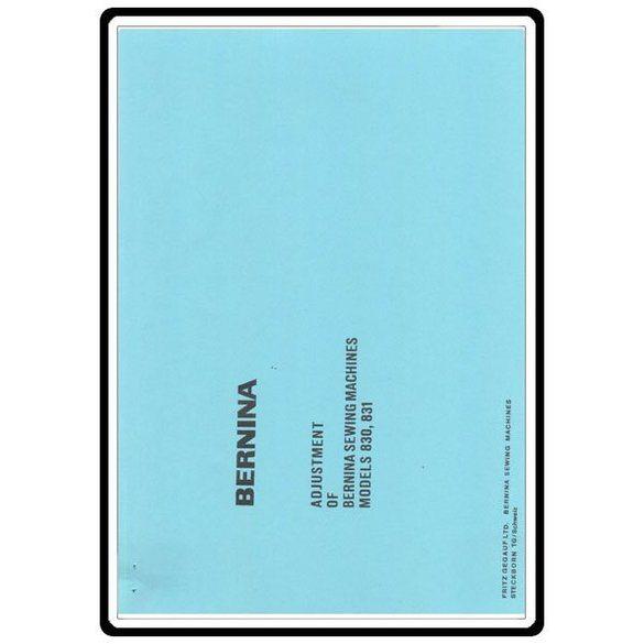 Service Manual, Bernina (Bernette) 831