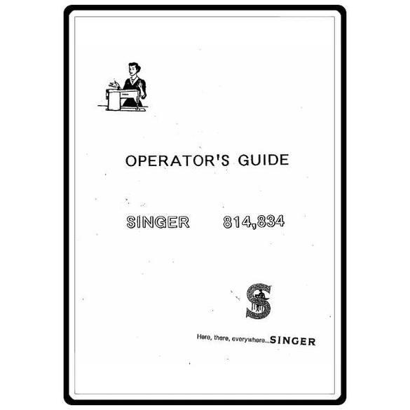 Instruction Manual, Singer 834