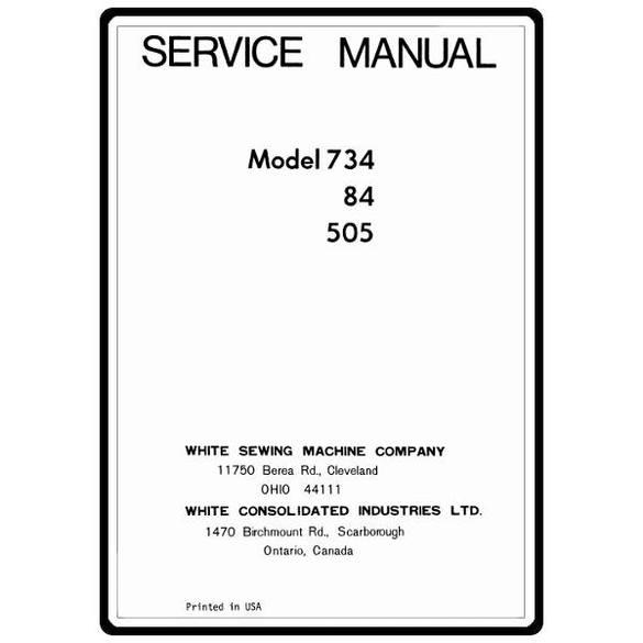 Service Manual, White 84