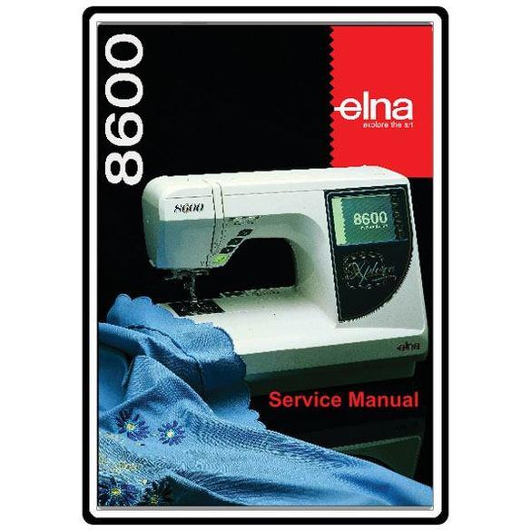Service Manual, Elna 8600
