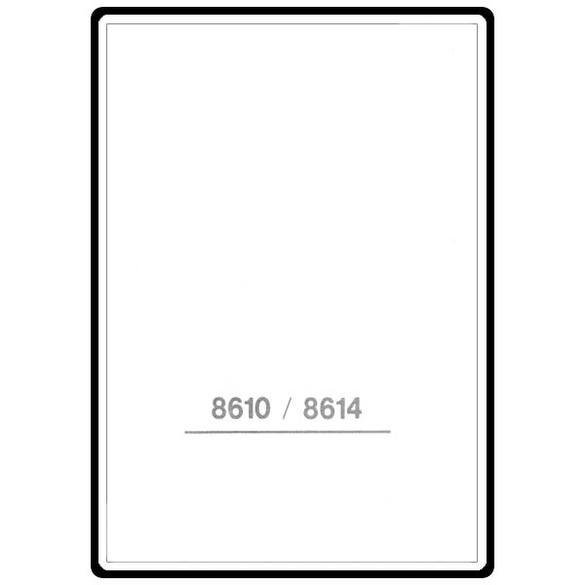 Instruction Manual, Singer 8610