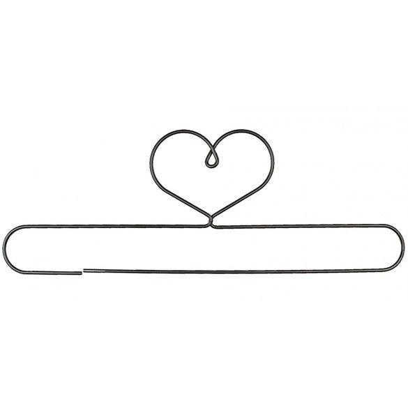 Heart Shaped, Split Bottom Quilt Holder, 16in - Gray