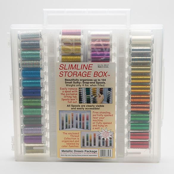 Sulky, Slimline Case with Metallic Dream Thread Collection - 84 Spools
