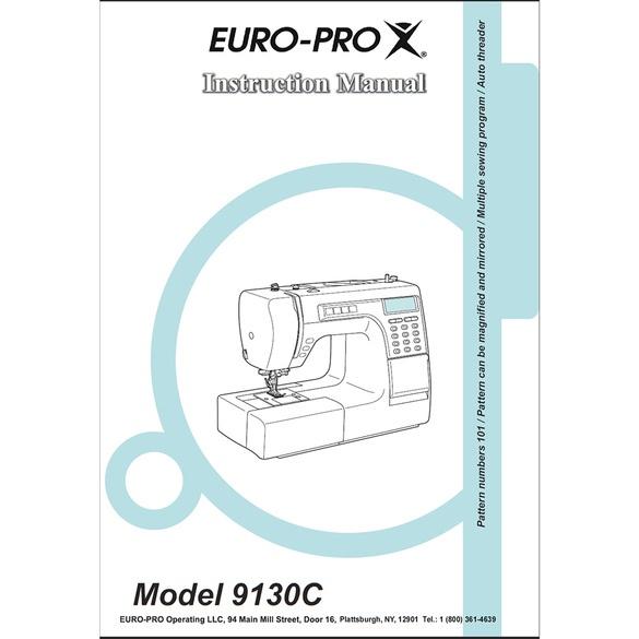 Instruction Manual, Euro Pro 9130C