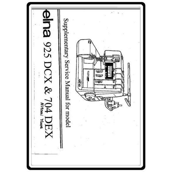 Service Manual, Elna 925