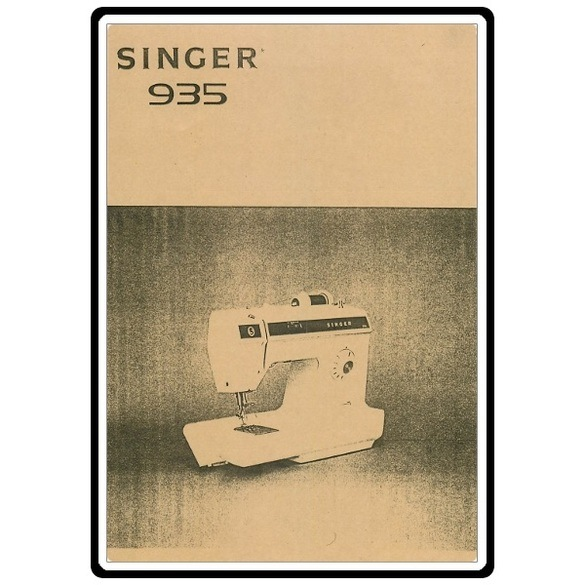 Instruction Manual, Singer 935