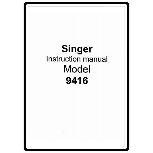 Instruction Manual, Singer 18331