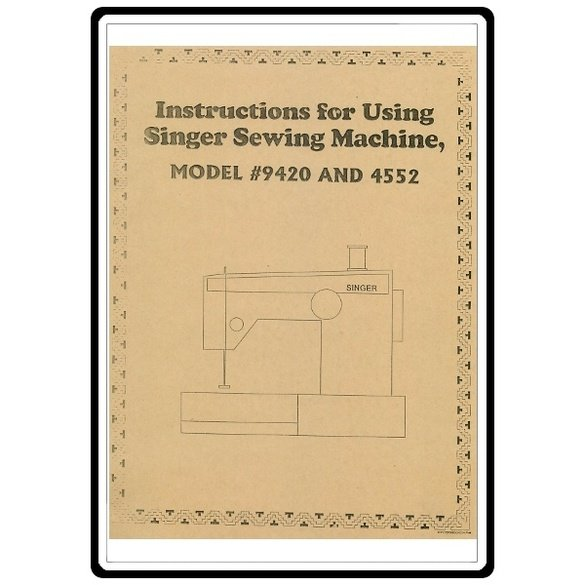 Instruction Manual, Singer 9423