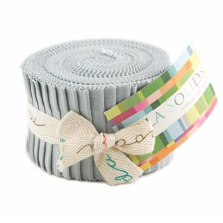 Zen Grey, Moda Bella Solids Fabric, Junior Jelly Roll