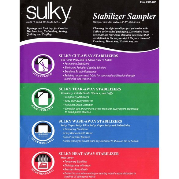 Sulky Stabilizer, Sampler Pack