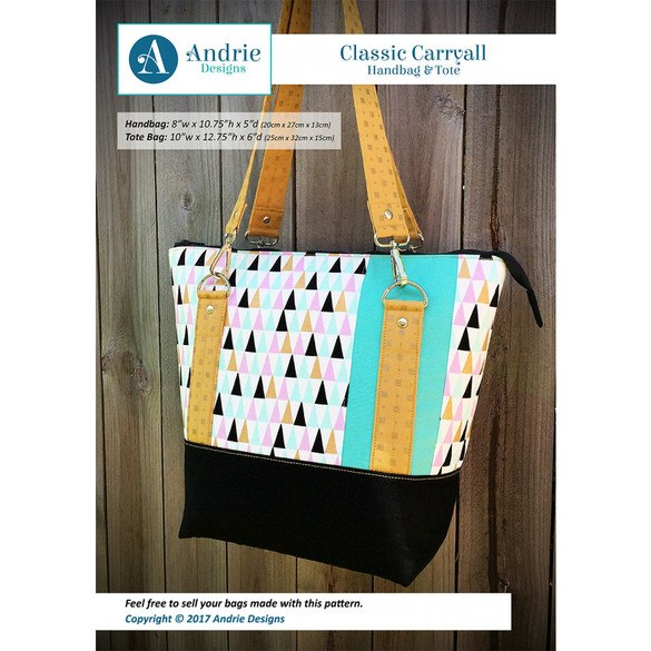 Classic Carry All Handbag and Tote Pattern