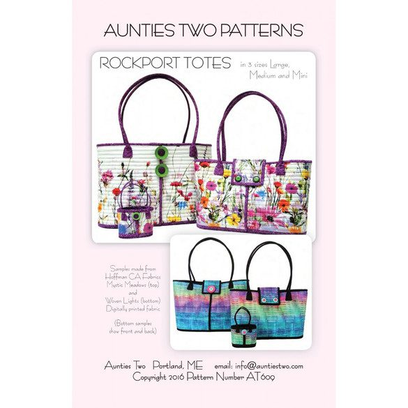 Rockport Tote Pattern, Aunties Two Patterns