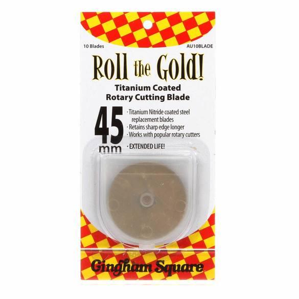 Gold Titanium 45mm Rotary Blades (10pk)
