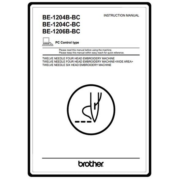 Instruction Manual, Brother Industrial BAS-1204C-BC