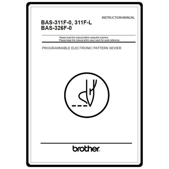 Instruction Manual, Brother BAS-311F-1