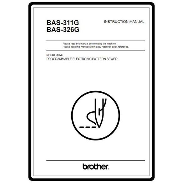 Instruction Manual, Brother BAS-311G