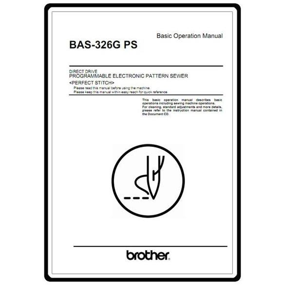 Instruction Manual, Brother BAS-326G PS
