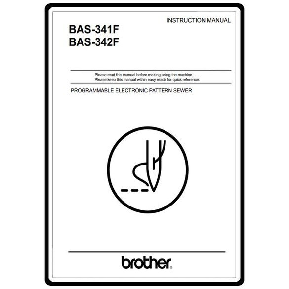 Instruction Manual, Brother BAS-341F