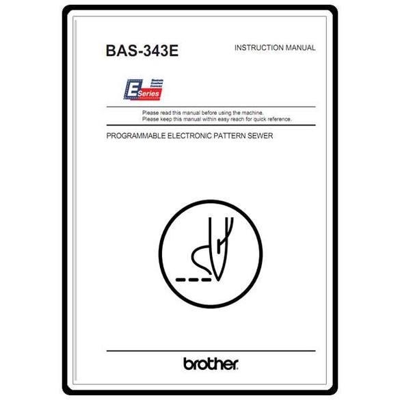 Instruction Manual, Brother BAS-343E