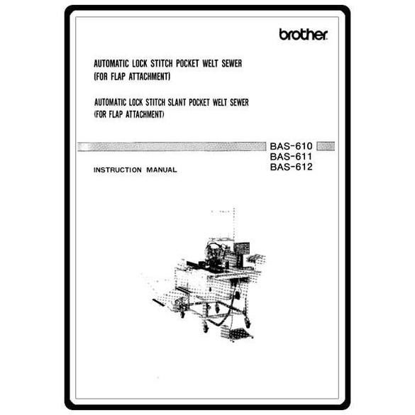 Instruction Manual, Brother BAS-610