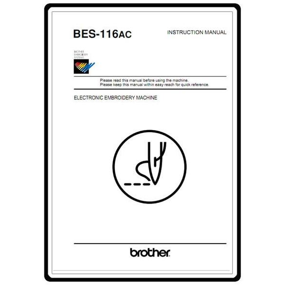 Instruction Manual, Brother BES-116AC