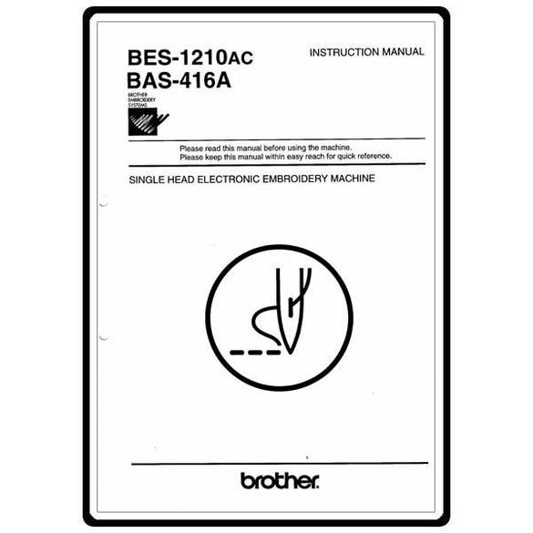 Instruction Manual, Brother BES-1210AC