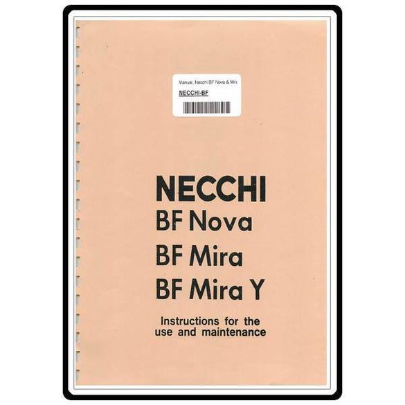 Instruction Manual, Necchi BF