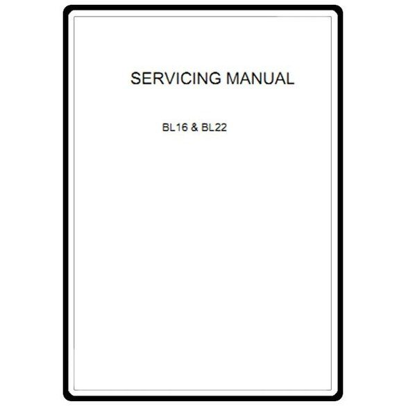 Service Manual, Babylock BL16 Denim Pro
