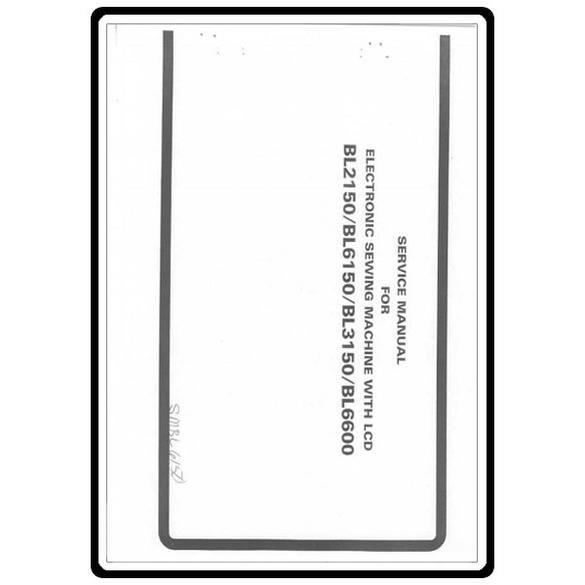 Service Manual, Babylock BL3150