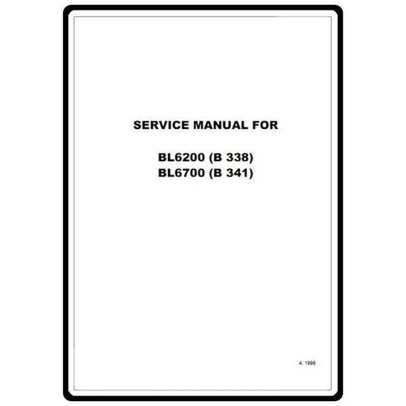 Service Manual, Babylock BL6700