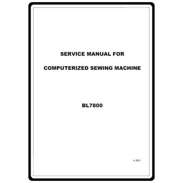 Service Manual, Babylock BL7800