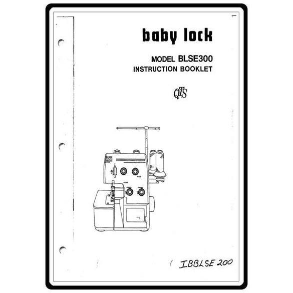 Instruction Manual, Babylock BLSE300