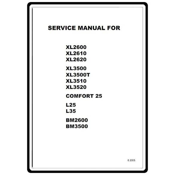 Service Manual, Brother BM3500