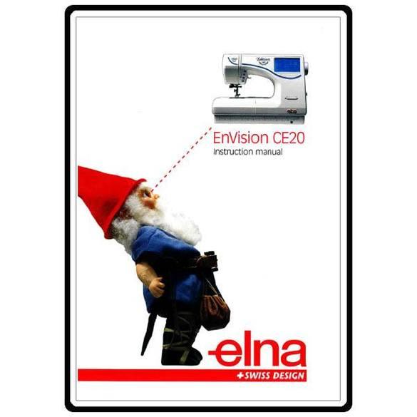 Instruction Manual, Elna CE20 EnVision