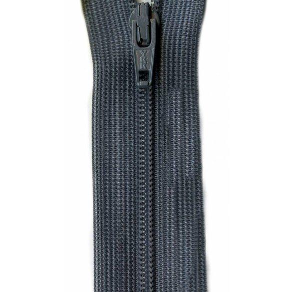 Beulon Knit Tape Zipper, YKK #CFC, Medium Grey, 14in
